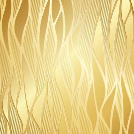 Luxe gouden behang. Vector Illustratie