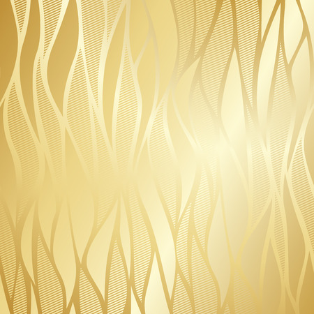 vintage wave: Luxury golden wallpaper. Vintage wave pattern Vector background. Illustration