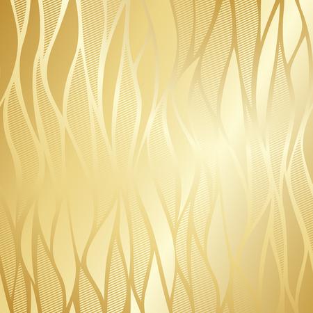 vintage wave: Luxury golden wallpaper. Vintage wave pattern Vector background. Illustration