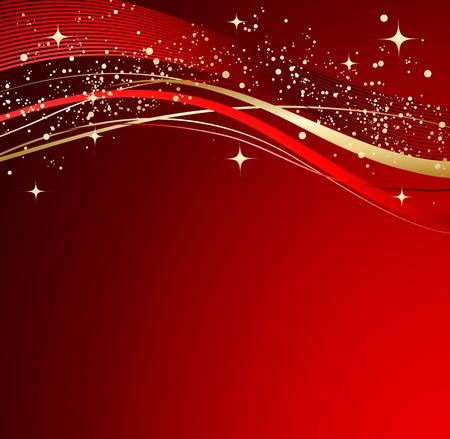 빨간색 추상적 인 배경입니다. 파도와 크리스마스 배경입니다.