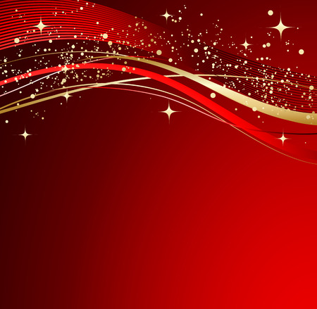 red wave: Red abstract background. Christmas background with wave.
