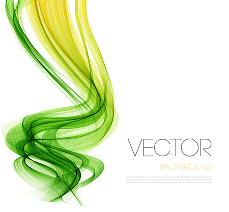 colorful abstract background: Vector Abstract  Green curved lines background. Template brochure design.