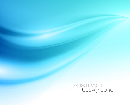 flowing: Beautiful Blue Satin. Drapery Background, Vector Illustration