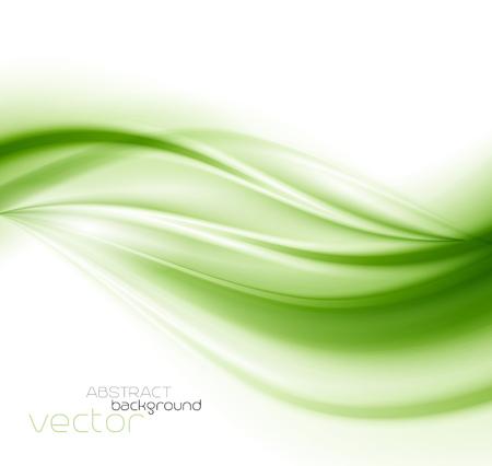 Beautiful Green Satin. Drapery Background, Vector Illustration