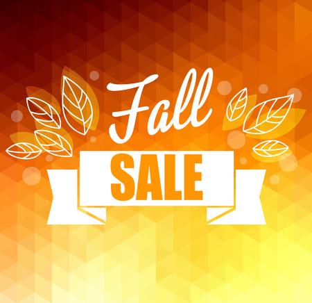 Herbstsonne Dreiecks Vektor-Hintergrund mit Blättern. Vector Illustration Eps10. Großer Verkauf Vektorgrafik