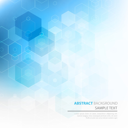 Vector Abstract sciense Background. Hexagon geometric design. EPS 10 Çizim
