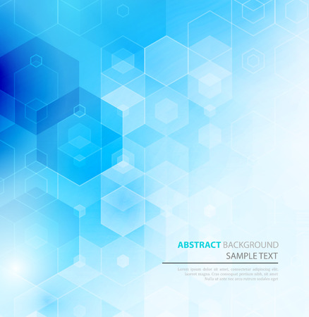 square: Vector Abstract sciense Background. Hexagon geometric design. EPS 10 Illustration