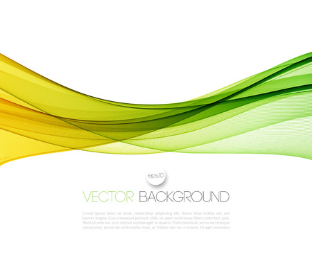 grün: Vector Abstract Green geschwungene Linien Hintergrund. Vorlage Broschüre Design. Illustration