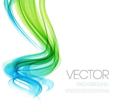 medicina: Vector verde abstracto curvó las líneas de fondo. Diseño de folletos plantilla. Vectores