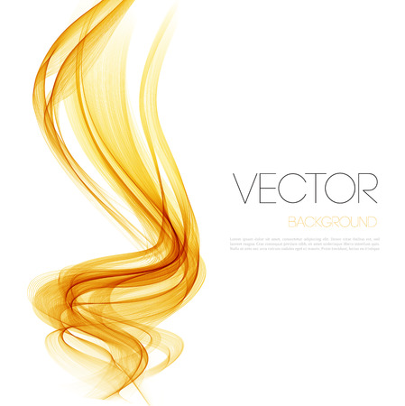 Vector Abstract  Orange curved lines background. Template brochure design.