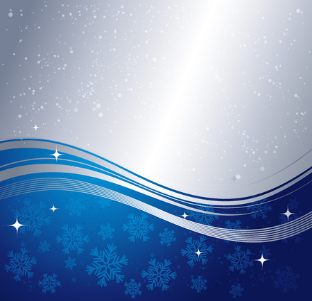 silver backgrounds: Blue winter abstract background. Christmas background with snowflakes. Vector. Illustration