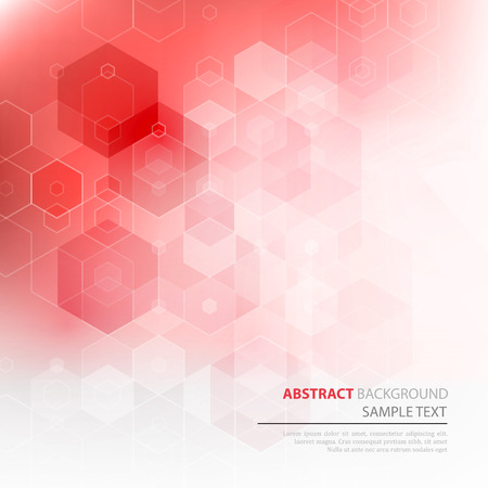 Vector Abstract science Background. Hexagon geometric design. EPS 10 Illustration