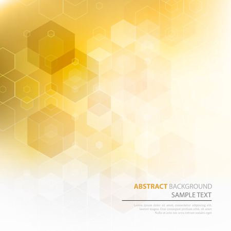 Vector Abstract science Background. Hexagon geometric design. Ilustração