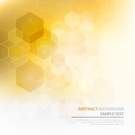 honeycomb: Vector Resumen de fondo de la ciencia. Hexágono diseño geométrico.