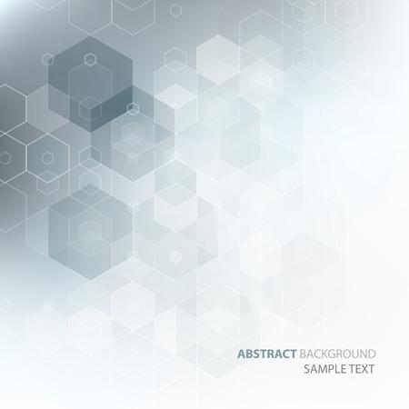 Vektor abstrakt vetenskap bakgrund. Hexagon geometrisk design. Illustration