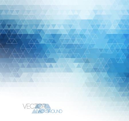 triangulo: Fondo de la plantilla de luz azul abstracto con el patrón de triángulo
