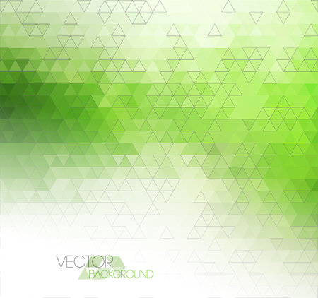 Abstract green light template background with triangle pattern
