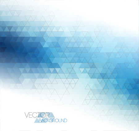 Abstract blue light template background with triangle pattern