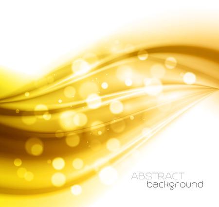 Mooie Gold Satin. Gordijn Achtergrond. Vector Illustratie