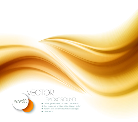 smooth curve design: Beautiful Gold Satin. Drapery Background. Vector Illustration Illustration