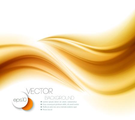 flujo: Hermoso de raso de oro. Antecedentes de la pañería. Ilustración vectorial Vectores