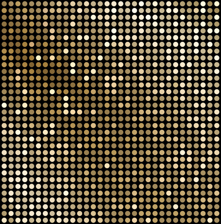 retro disco: Vector Abstract gold mosaic background. Disco style