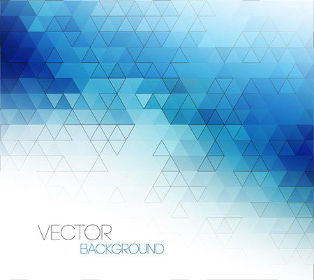 blue background abstract: Abstract blue light template background with triangle pattern