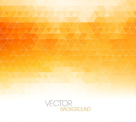 Abstract orange light template background with triangle pattern