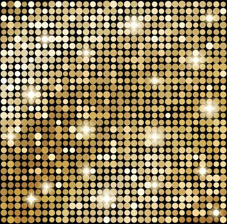 Vector Abstract gold mosaic background. Disco style