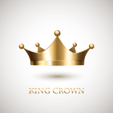 coronation: Gold Crown Isolated On White Background. Vector Illustration