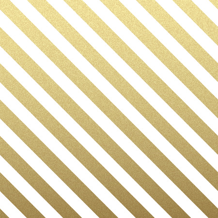 Gold glittering diagonal lines pattern on white background. . Classic pattern. Vector design Ilustrace
