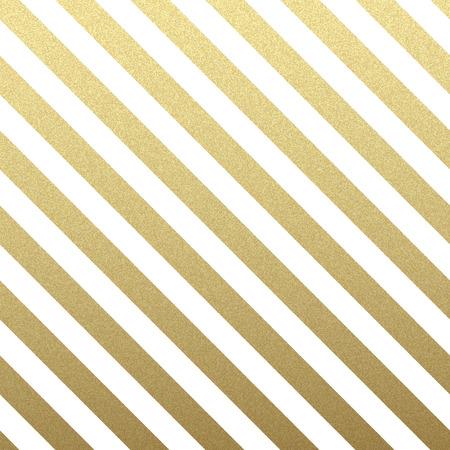 Goud glinsterende diagonale lijnen patroon op een witte achtergrond. . Klassiek patroon. vector design