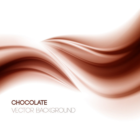 Abstract chocolate background, brown abstract satin. Vector illustration Çizim