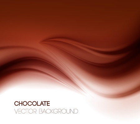 chocolate swirl: Abstract chocolate background, brown abstract satin. Vector illustration Illustration