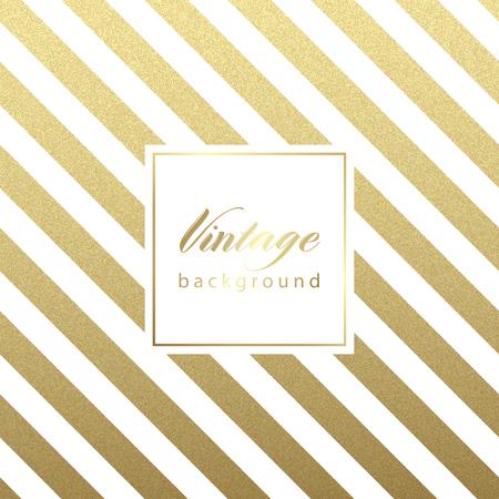 elegante: Ouro reluzente padrão de linhas diagonal no fundo preto. . Padrão clássico. Projeto do vetor