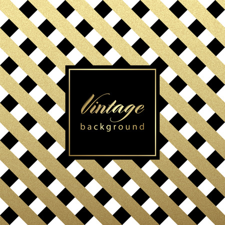 foil: Gold glittering diagonal lines pattern on black background. . Classic pattern. Vector design
