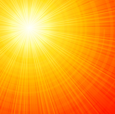 light rays: Sunbeams orange abstract vector illustration background EPS 10