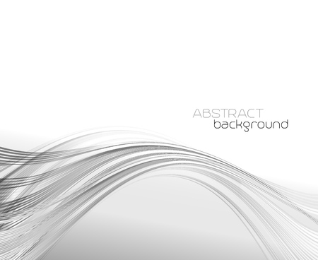 web graphics: Abstract template background with curved wave.  Wavy lines. Illustration