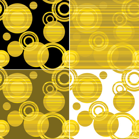 gold circle: illustration set of seamless gold pattern with circle. Illustration