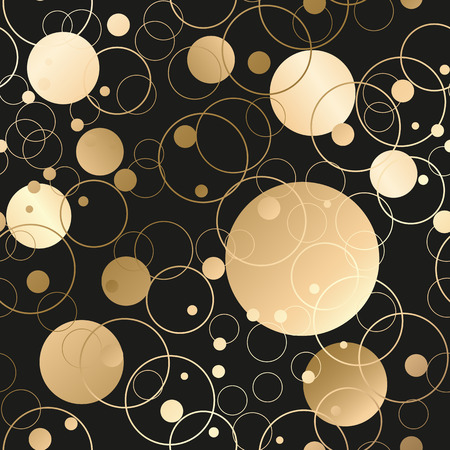Gold abstract background.  seamless with circles