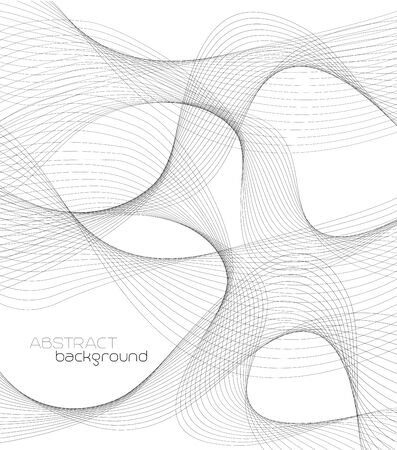 curved lines: Abstract template background with gray curved lines
