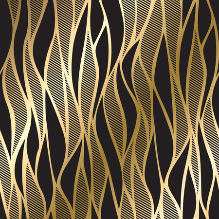 vintage gold card with seamless damask pattern