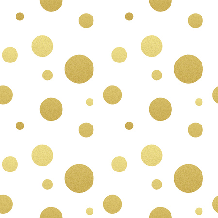 Classic dotted seamless gold glitter pattern.  Polka dot ornate