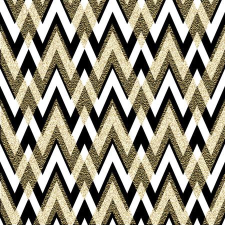 Pattern in zigzag. Classic chevron seamless pattern. Vector design Vettoriali