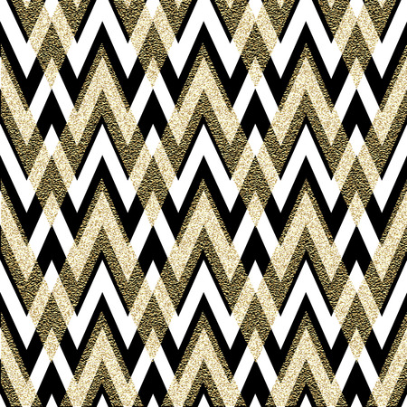 gold: Pattern in zigzag. Classic chevron seamless pattern. Vector design Illustration