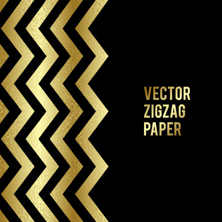a glamour: Abstract template background with gold zigzag shapes. Vector illustration EPS10