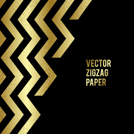 Abstract template background with gold zigzag shapes. Vector illustration EPS10