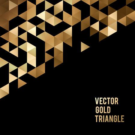 textura: Fondo de plantilla abstracto con formas de triángulo de oro. ilustración vectorial EPS10 Vectores