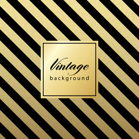 luxuries: Gold glittering diagonal lines pattern on black background. . Classic pattern. Vector design