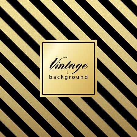 goldmedaille: Gold glitzernden diagonalen Linien Muster auf schwarzem Hintergrund. . Klassische Muster. Vektor-Design-